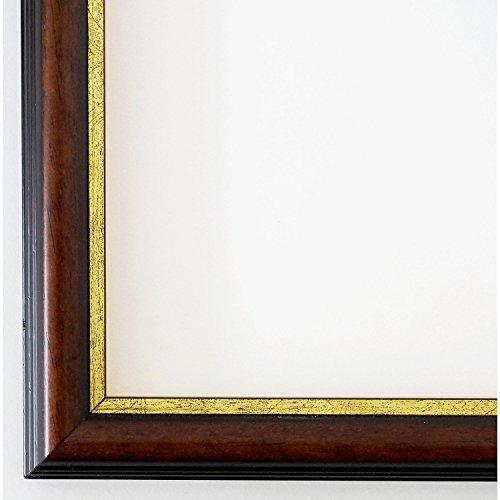 Bilderrahmen Berlin 2,3 - Braun mit Gold - Alle Größen und über 500 Varianten zur Auswahl -...