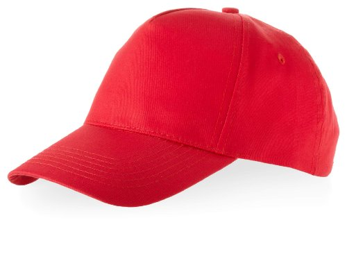 Kinder Baseball Cap 'Euro' 100% Baumwolle im 13 Farben, Rot, One Size up to 53cm