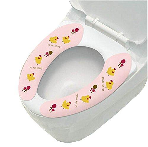 Gesunde Sticky Waschbar und mobile Toilettensitzabdeckungen, Huhn Muster, PINK