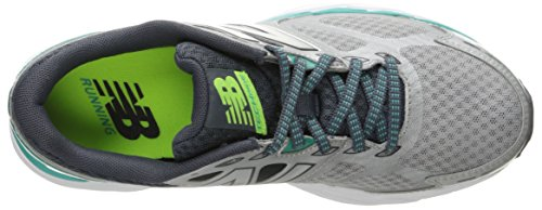 New Balance Women's W680V3 Running Shoe, Silver/Reef, 10 B US Silver/Reef
