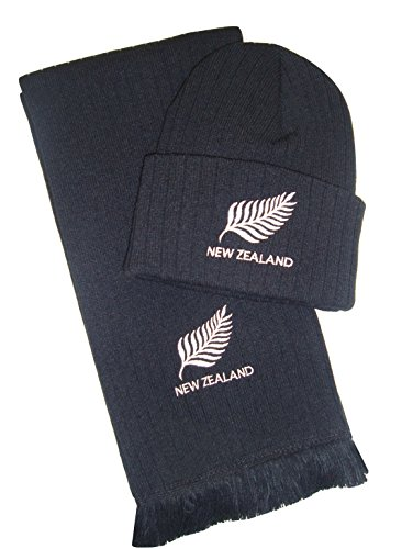 New Zealand Rugby bestickt Mütze und Schal (Rugby Gestickt)