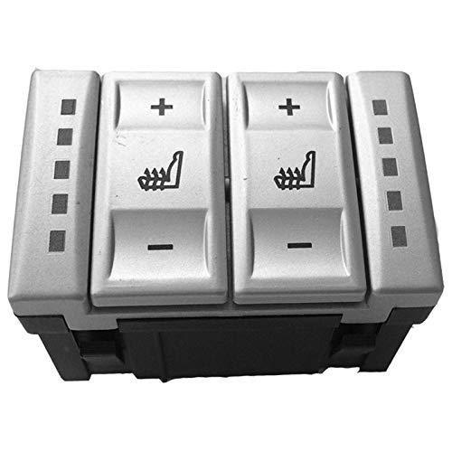 Moligh doll Für Ford Mondeo Mk3 Mk4 S-Max Elektrische Sitzheizung Schalter W?rmeschalter 6M2T-19K314-Ac Bs7T-19K314-Ab(Silber)