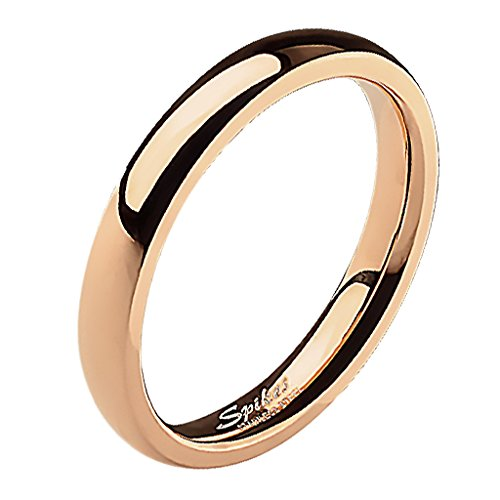 Mianova Band Ring Edelstahl Bandring Ehering Herrenring Damenring Partnerring Verlobungsring Damen Herren Rosegold Größe 58 (18.5) Breit 4mm