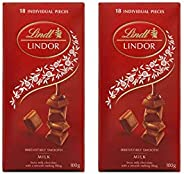 Lindt Milk Lindor Single Twin Pack