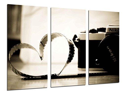 Wandbild - Bild Camara Nikon Vintage, Film von Liebe, 97x 62cm, Holzdruck - XXL Format - Kunstdruck, 26516