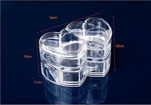 Boîtes transparentes de cosmétiques bijoux boîte boîte bureau multifonctionnel rangement