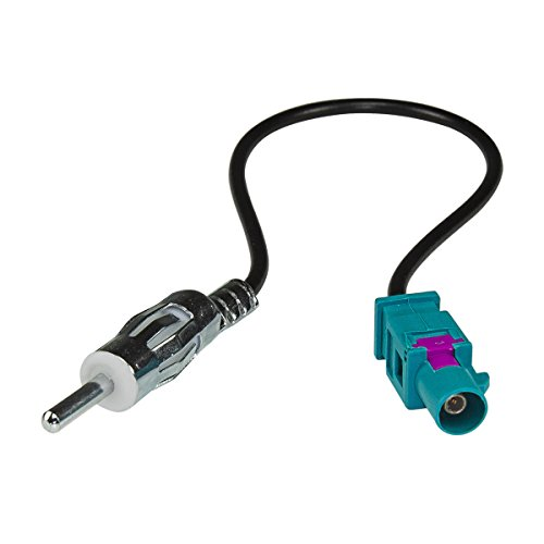tomzz Audio ® 1500-032 Fakra (M) Antennenadapter Stecker auf DIN (M) Stecker für Audi, BMW, Citroen, Dacia, Fiat, Opel, Peugeot, Renault, Seat, Skoda, VW