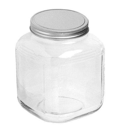 Anchor Hocking 1-Gallon Cracker Jar with Brushed Aluminum Lid, Set of 4 by Anchor Hocking Cracker Jar-set