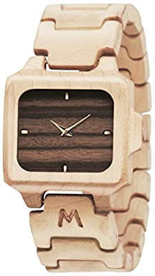 MATOA Reloj de madera, hecho a mano