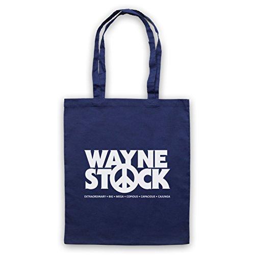 Ispirato Da Waynes World 2 Waynestock Mantelle Non Ufficiali Blu Oltremare