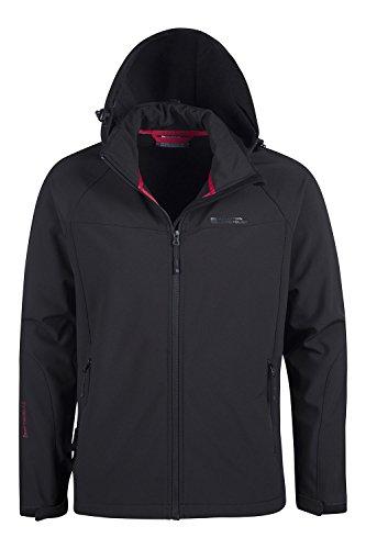 Mountain warehouse giacca softshell exodus da uomo nero large