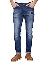 Being Human Mens Skinny Fit Heavy Wash Jeans