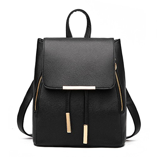 Rucksack Damen Lässig Eimer-Typ Abgedeckt Typ Mode Handtaschen Black
