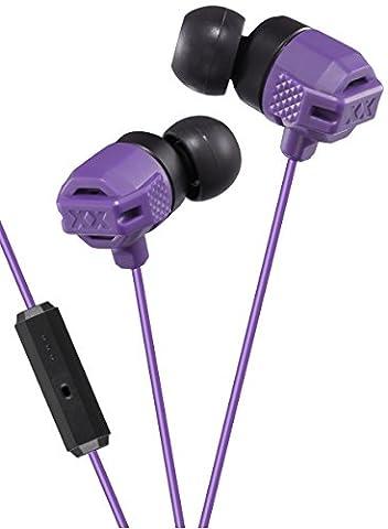 JVC HA-FR202-V-E Ecouteurs intra-auriculaires pour Smartphone/Tablette/Lecteur MP3/MP4 Violet