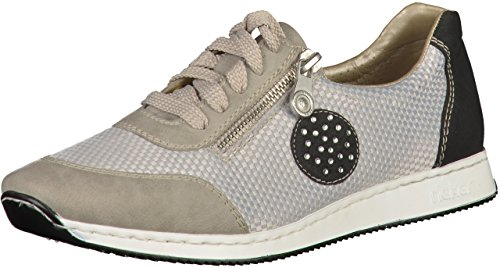 Rieker - 56021 Women Low-top, Scarpe da ginnastica Donna Grau