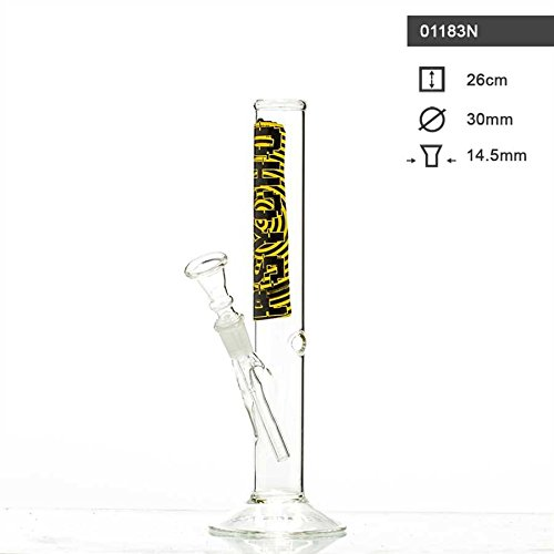 Psycho Glass Bong Height 26cm Diameter 32mm Diameter 14.5Joint and Chillum Tobacco Smoking Pipe by Unbekannt