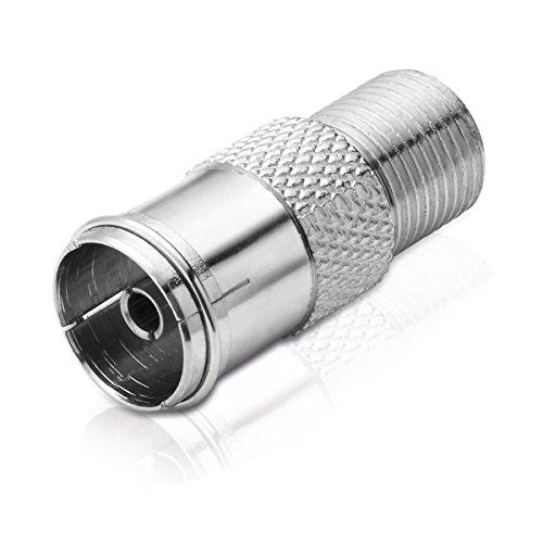 adaptare 60222 - Sat/TV-Adapter (F-Buchse auf IEC-Koax-Buchse) (Koaxial F Stecker Buchse Adapter)