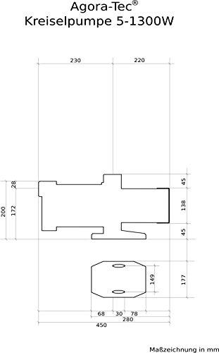 Agora-Tec® AT-Kreiselpumpe-5-1300W - 3