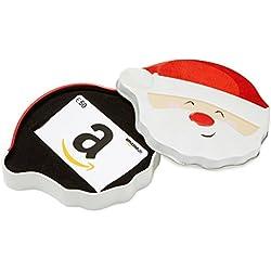 Amazon.de Geschenkgutschein in Geschenkbox - 50 EUR (Lächelnder Weihnachtsmann)