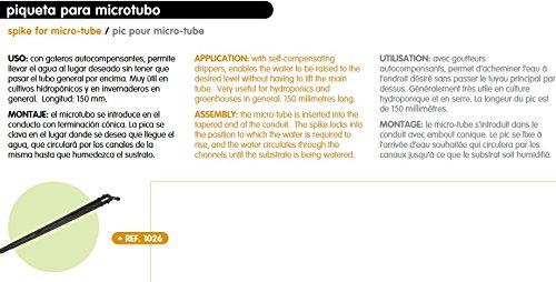 Piquets Microtubo Réf 1026 hauteur 150 mm, blister de 10 unités