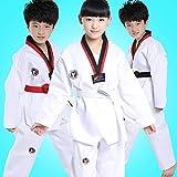 SEGRJ Kids Boys Girls Tae Kwon Do Uniform Taekwondo Karate Martial Arts, Bianco