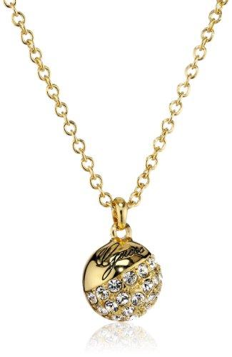 Guess Damen-Halskette Metall Kristall mit Anhänger  45 cm UBN71268
