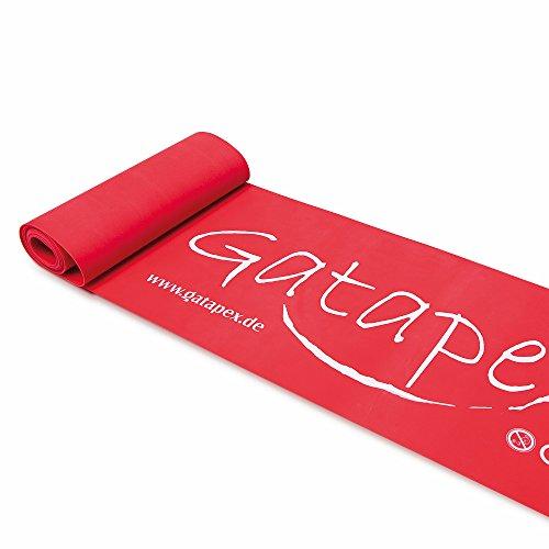 Neuheit: Gatapex Fitness-Band 2, 5m x 14, 5cm, stark-rot