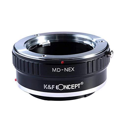 K&F Concept Adaptador Lente Minolta MD MC a Montura Sony NEX E-Mount Cámara para Sony Alpha A7,A6000,A6300,A6500,A5000,A5100,NEX 7,NEX 5,NEX 5N,NEX 6,NEX 3N