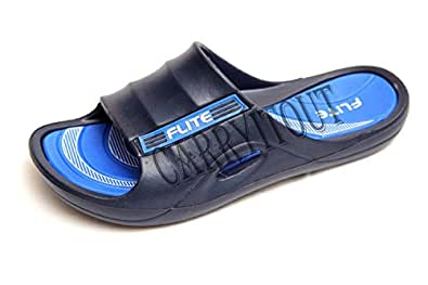 CARRYITOUT Men's Multicolour Polyester Slippers - 7