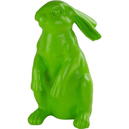 Cepewa statuetta decorativa coniglietto in piedi 22x 35x 20cm colore: verde chiaro in poliresina osterhase deko hase
