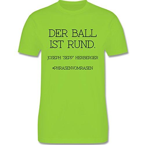 EM 2016 - Frankreich - Der Ball ist rund - Herren Premium T-Shirt Hellgrün