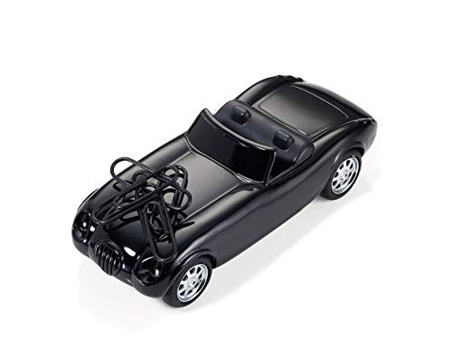 """TROIKA """"ROAD STAR"""" - GAM07/BK (Roadster im Stil der 50er Jahre)– Büroklammernhalter – Magnet – 5 Büroklammern – Rückziehmotor – glänzend ()"""