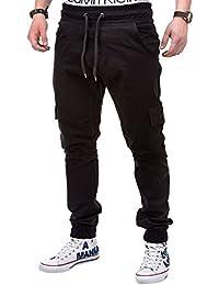 Betterstylz MasonBZ Cargo Chino Jogger Hombre Army Mix Pantalones Bolsillo Latera div colores (S-XXXL)