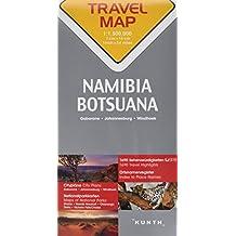 Carte de voyage Namibie, Botswana, Afrique du Sud 1 : 1,5 Mio