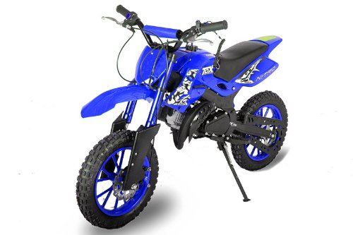 "Dirtbike 49cc Hobbit Cross 10\"" Pocketbike Crossbike Kinderbike Blau"
