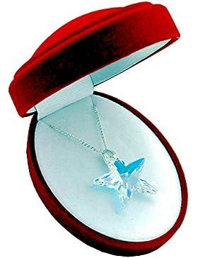Crystals & Stones *TOP* *STERN* 28 mm *Crystal AB* mit Silberkette aus 925 Silber mit original Swarovski® Elements...
