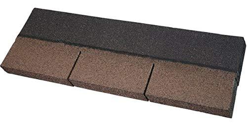 Easy Shingle Bitumen-Rechteckschindel - braun 2 m² - Eindeckung von geneigten Dächern wie z. B. bei Gartenlauben, Pavillons, Carports, Ferienhäusern und Wohnhäusern.