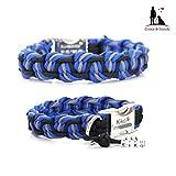Paracord Halsband, Art: Dance, Hundehalsband, wahlweise mit Gravur oder weiteren Extras