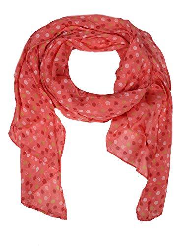 Zwillingsherz Seiden-Tuch mit Punkten - Hochwertiger Schal für Damen Mädchen - Halstuch - Umschlagstuch - Loop - weicher Schlauchschal für Frühjahr Sommer Herbst und Winter - kora
