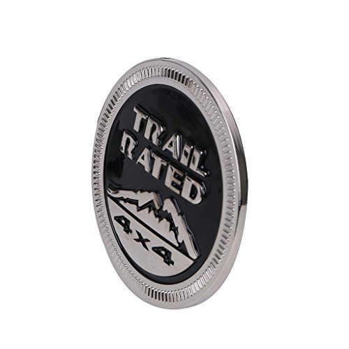 SENGEAR - Accesorios Embellecedores de Carrocería Emblema Metal Trail Rated 4X4 Trunk Tailgate Logo