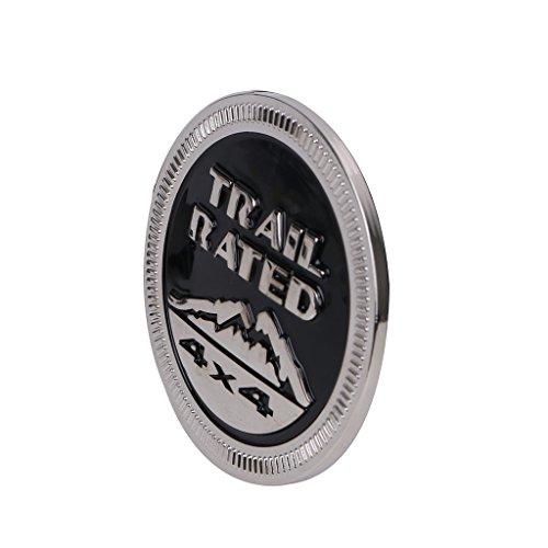 Preisvergleich Produktbild Sengear – Blenden Zubehör-Karosserie Emblem Metall Trail Rated 4 x 4 Trunk Tailgate Logo