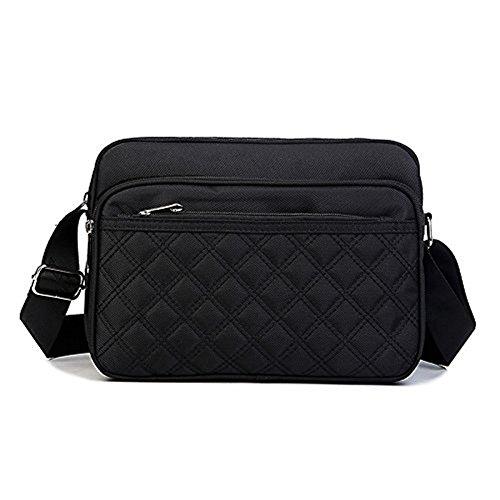 Meoaeo Impermeabile Sacchetto Di Nylon, Borsa A Tracolla, Uomini Sport Bag, Multi Tasca In Nylon Impermeabile Bag,Gules black