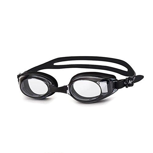 HONEY Schwimmen-Schutzbrillen Pingguang Transparente HD Wasserdichte Anti-Fog-Schwimmen-Ausrüstungs-Mann-und Frauen-Gläser ( Farbe : Schwarz )