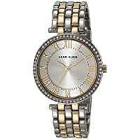 Anne Klein Womens Quartz Watch, Analog Display and Stainless Steel Strap AK3131SVTT
