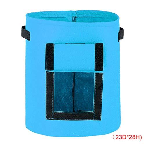 (Masterein Umweltfreundlich Runde Kartoffel Plangting Tasche Nonwovens Breathpflanzenwachstum Pouch Garten wachsen Pot Garden Supplies Blau 23 * 28cm)