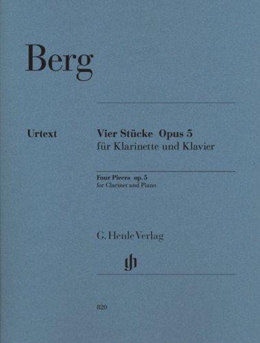 Pieces (4) Op.5 --- Clarinette et Piano por Berg a