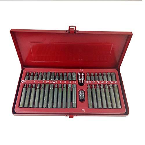 CUHAWUDBA 40 Stücke Stern Stapel Set Sechskant Schlüssel Auto Reparatur Werkzeug Spline Pflaumenblüte Schraubendreher Combination Set Hex Werkzeuge