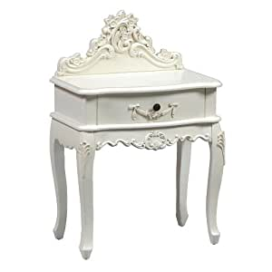 Beautiful Ornate Cream French Shabby Chic Bedside Table Unit