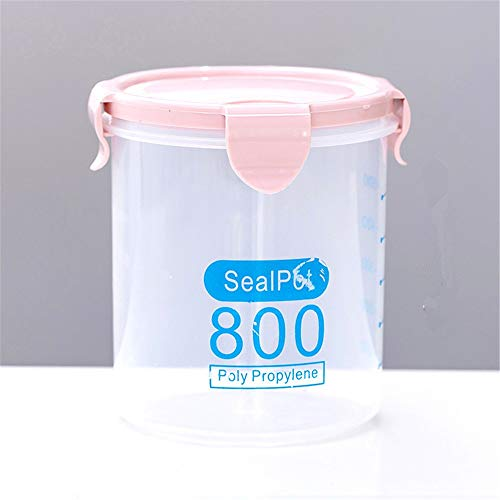 Pink Cookie Jar (Kitchen Food Container Seal Pot Tea Coffee Candy Storage Tank Plastic Cereals Snacks Box Cookie Canister Jars For Spices,800Ml,Pink)