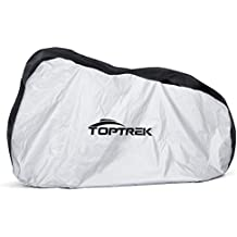 Toptrek Bike Cover Waterproof for Outside Storage - Bicycle Cover with 210D Oxford Fabric Extra Large (200*110*70 CM) Resistant Rain Dust Snow UV Protection